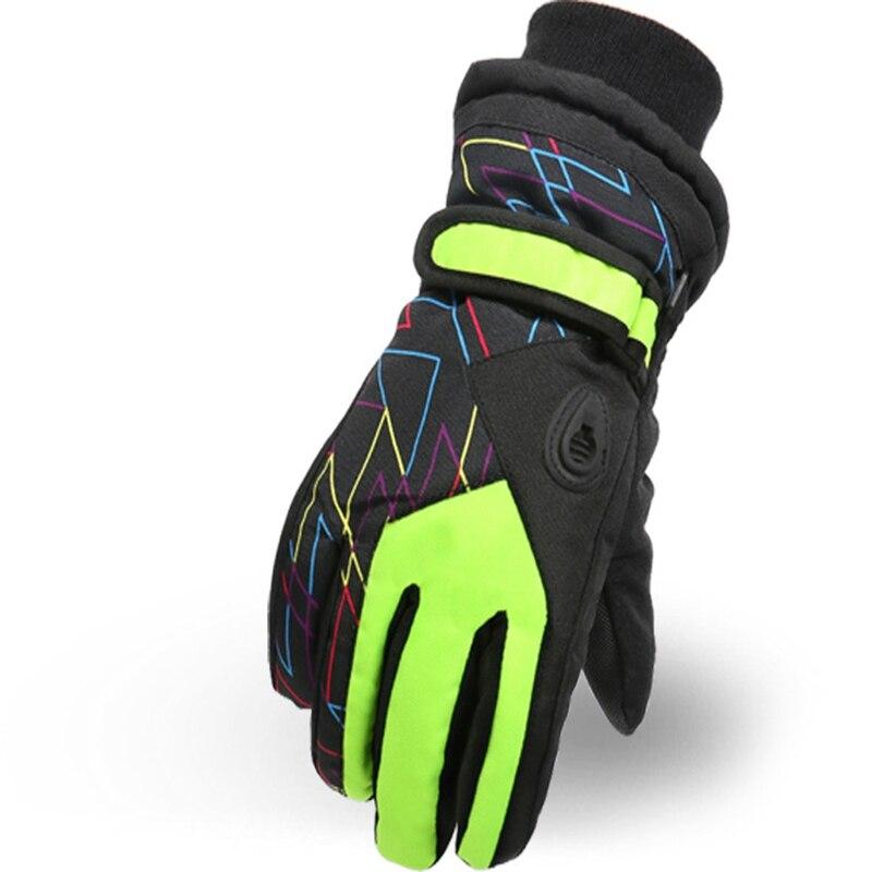 Winter Children'S Outdoor Warm Gloves Taslan Wear Ski Riding Gloves