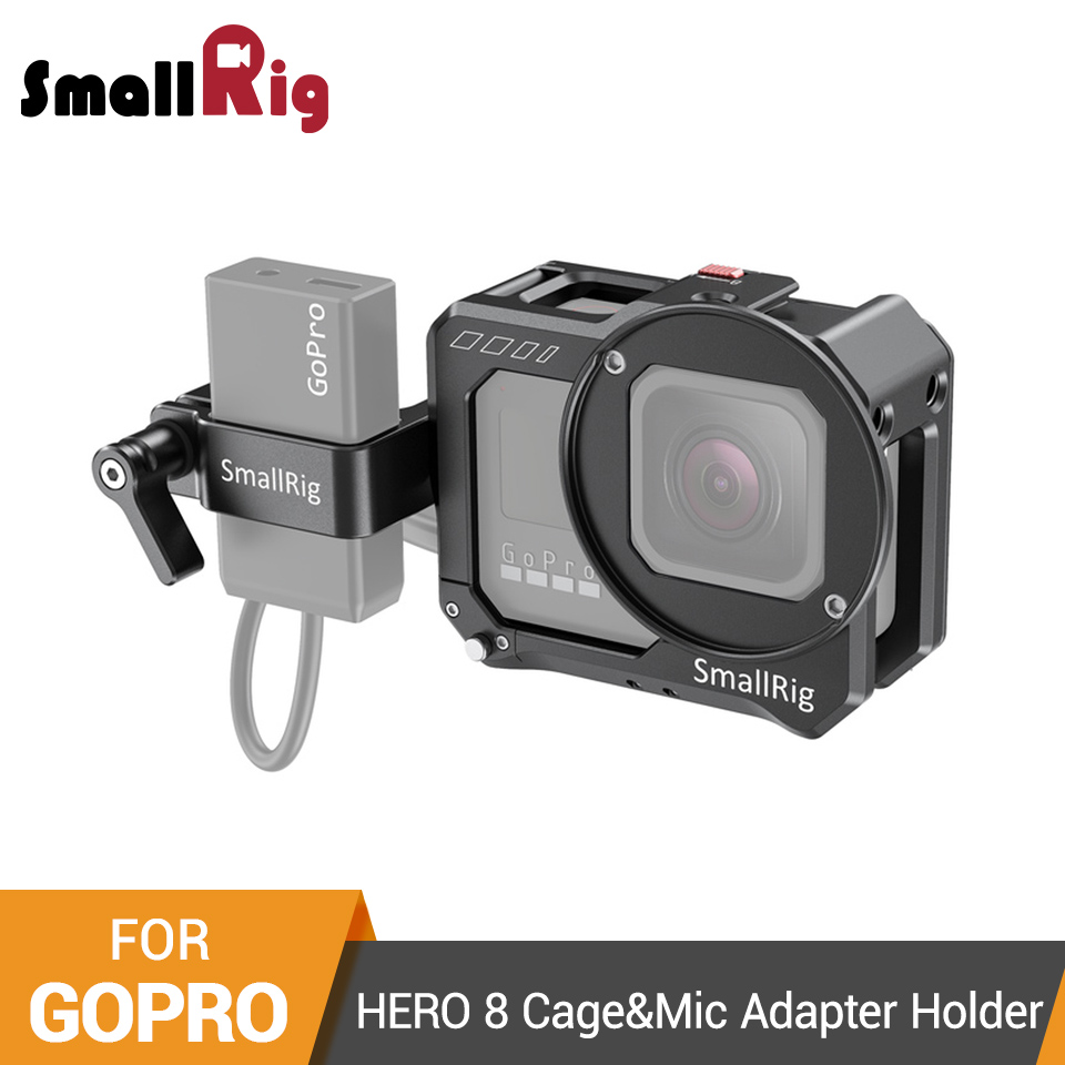 SmallRig Vlogging Cage And Mic Adapter Holder For GoPro HERO 8 Black Aluminum Alloy Camera Cage Video Shooting Rig - 2678