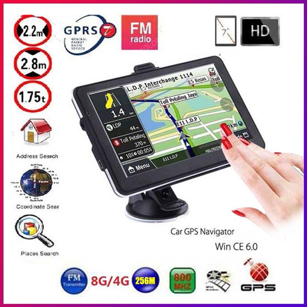 Gps Navigation 7 Inch TouchScreen Gps Navigator Car Vehicle Truck GPS Sat Nav BHT Optional Europe 2019 Maps Free Upgrade