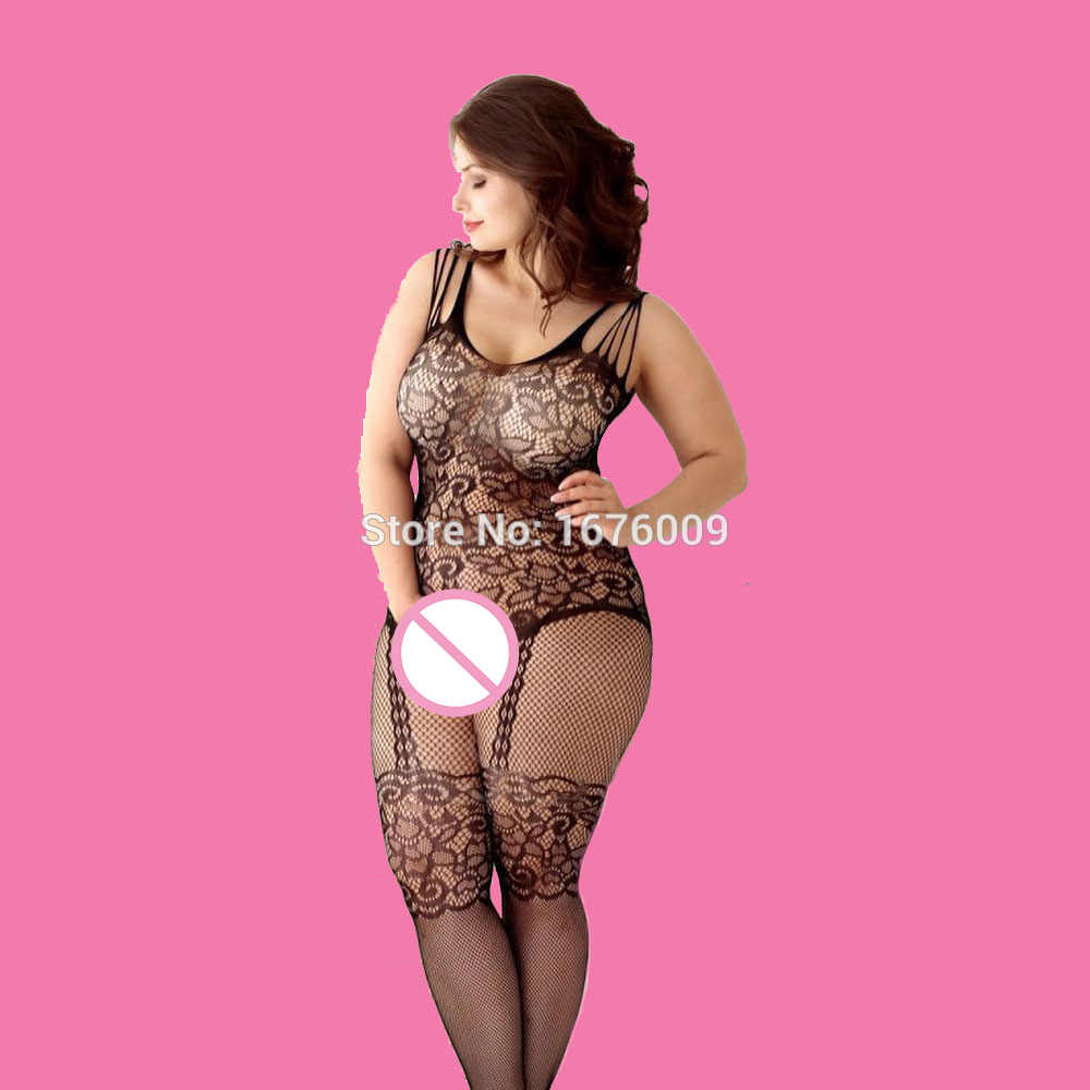 Seksi Bodystockings kadın Fishnet açık Crotch catsuit Mesh tayt iç çamaşırı erotik Bodysuit pijama Crotchless tulum Teddies