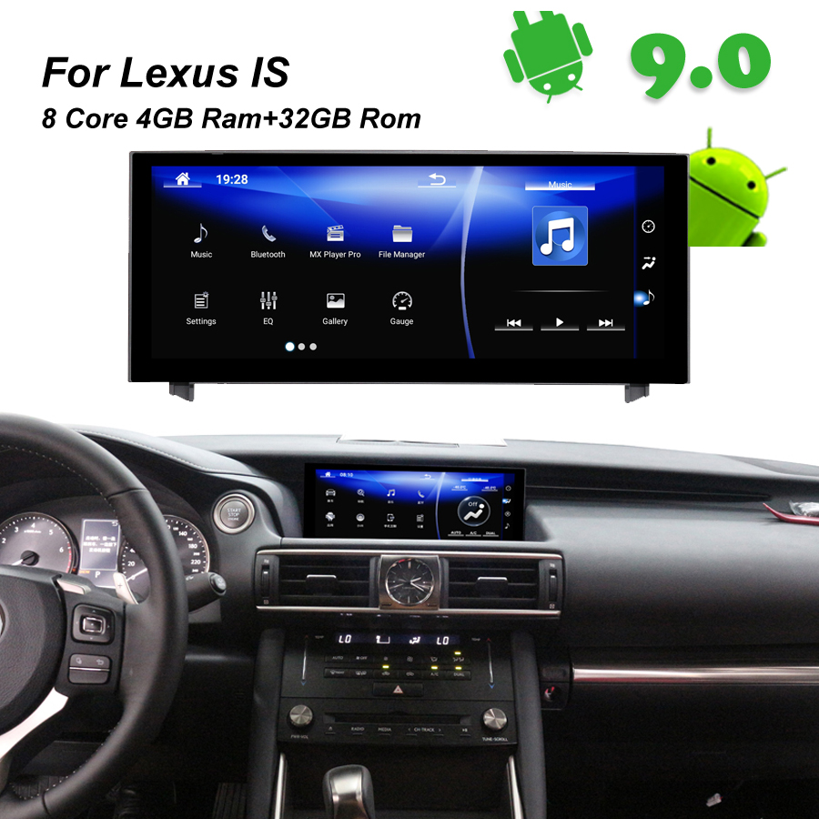 4GB RAM+32GB ROM Android 9.0 Car Radio GPS Navigation BT Head Unit for <font><b>Lexus</b></font> <font><b>IS</b></font> 200 <font><b>250</b></font> 300 350 200t 300h <font><b>lexus</b></font> IS300h <font><b>2014</b></font> 2015 image