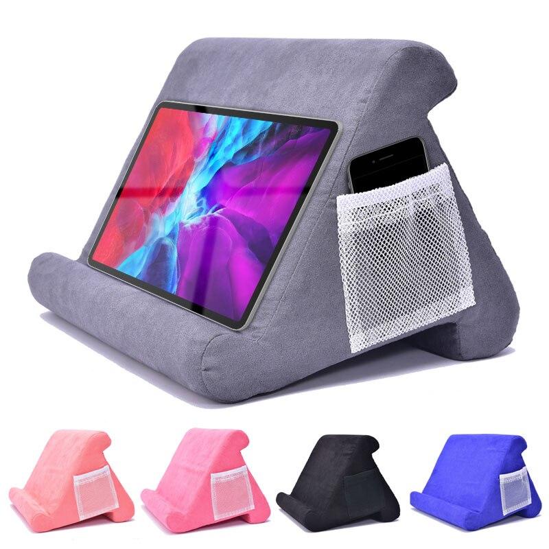 Sünger yastık Tablet standı iPad Samsung Huawei Xiaomi Tablet tutucu telefon desteği yatak istirahati yastık Tablet okuma tutucu
