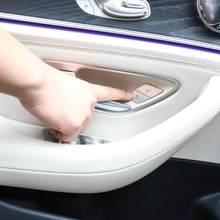 Boutons de déverrouillage de commutateur de porte de voiture, paillettes décoratives, garniture de couverture ABS pour Mercedes Benz W205 W213 X253 C classe E GLC 2015 – 2020 4 pièces