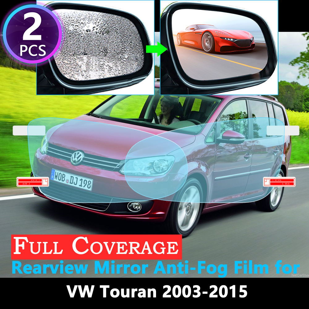Full Cover Protective Anti-Fog Film for Volkswagen <font><b>VW</b></font> <font><b>Touran</b></font> Original 2003~2015 Car Rearview Mirror Rainproof Accessories 2014 image