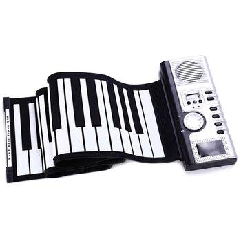 Portable 61 Keys Roll-Up Piano USB MIDI Keyboard MIDI Conctroller Hand Electronic Piano Silicone Rollable Piano 90pcs piano keyboard washer high quality piano tool hitch pin piano repair parts useful piano accessory