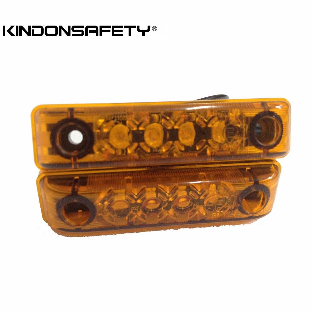 200 шт! E-mark утвержден светодиодный боковой зазор габаритной лампы свет с 4 шт. светодиодный s излучающий янтарный свет DC12V или DC24V