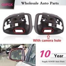 Крышка QX с отверстием для камеры для Ford Focus MK3 2012- боковое зеркало заднего вида рамка Крышка зеркального объектива дом чехол Замена крышки
