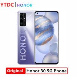 Original New Honor 30 Mobile Phone 6.53 inch 8G RAM 128G ROM Kirin 985 Octa Core Android 10 50x Digital Zoom 40MP 5G Smartphone