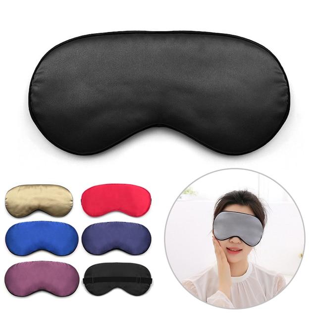 Silk Sleep Eye Mask Padded Shade Eye Cover Patch Sleeping Mask Eyemask Blindfolds Travel Relax Rest Women Men 1