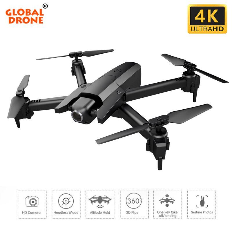 Global Drone GW106 4K Quadcopter Wifi ความสูง FPV ถือ Quadcopter โหมด Headless RC Drone with HD กล้อง Drones-ใน เฮลิคอปเตอร์ RC จาก ของเล่นและงานอดิเรก บน   1