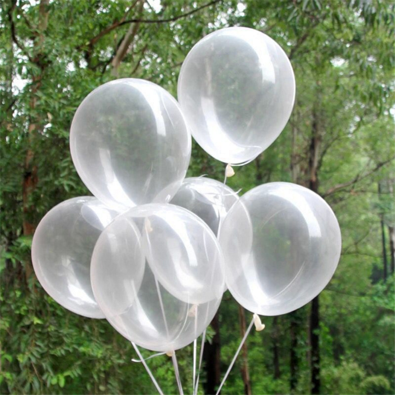 10pcs/lot 12Inch Thick Clear Latex Balloons Transparent Balloons Romantic Wedding Party Birthday Decoration Inflatable Air Balls