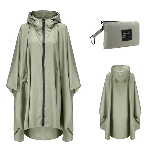 Poncho Raincoat Womens Fashion Rain Coats Waterproof men Rain Poncho Cloak with Hood for Hiking Climbing Touring