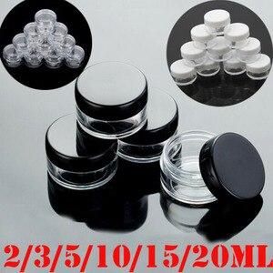 Image 1 - 10 adet 2g/3g/5g/10g/15g/20g boş plastik şeffaf kozmetik kavanoz makyaj kutusu losyon şişe şişeleri yüz kremi örnek tencere jel kutusu
