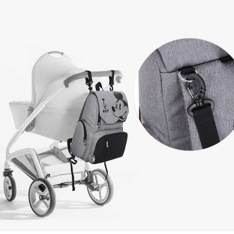 Disney Bags Mummy Diaper Backpack Minnie Mickey Mouse Bag Stroller Capacity Travel Feeding Handbag for Baby Care Disney Mom Bag