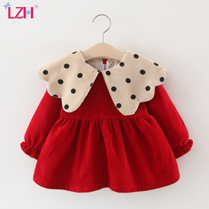2020 Autumn Winter Baby Long Sleeve Princess Dress For Baby Girl 1 Year Birthday Dress Infant Newborn Baby Christmas Party Dress(China)