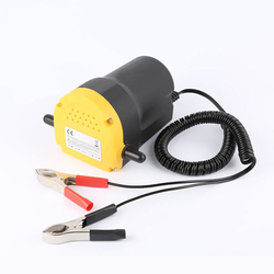 12V Electric Car Oil Pump Crude Oil Fluid Pump 60W Extractor Transfer Engine Suction Pump + Tubes for Auto Car Boat Motorcycle