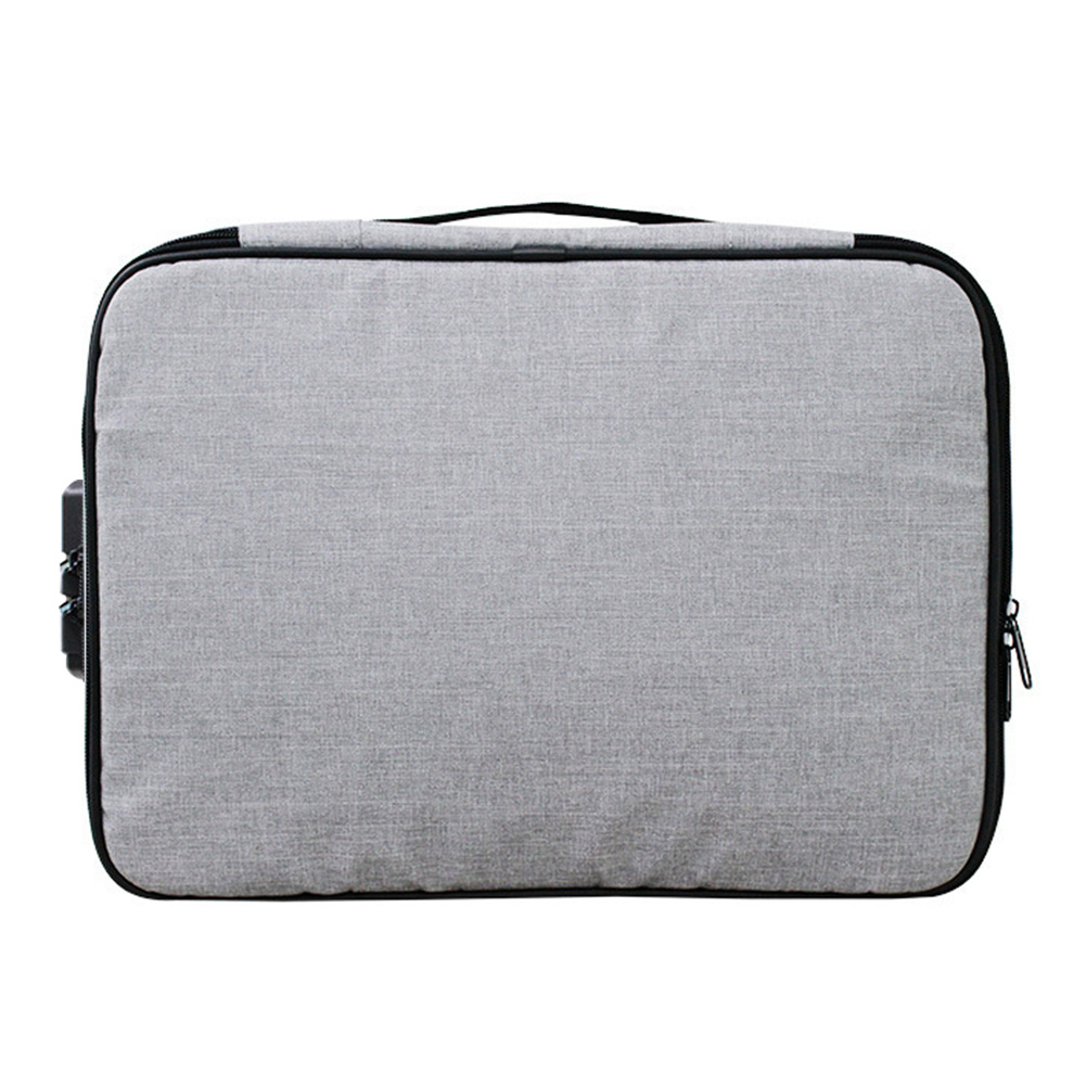 File Organizer Travel With Lock Large Capacity Portable Home Holder Document Storage Bag Oxford Cloth Credentials Handle Papers