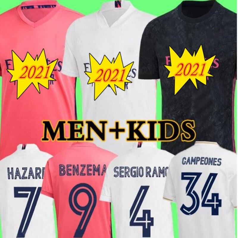 Juego de camisetas de fútbol del real Madrid, Benzema, Sergio Ramos|Camisetas para correr| - AliExpress