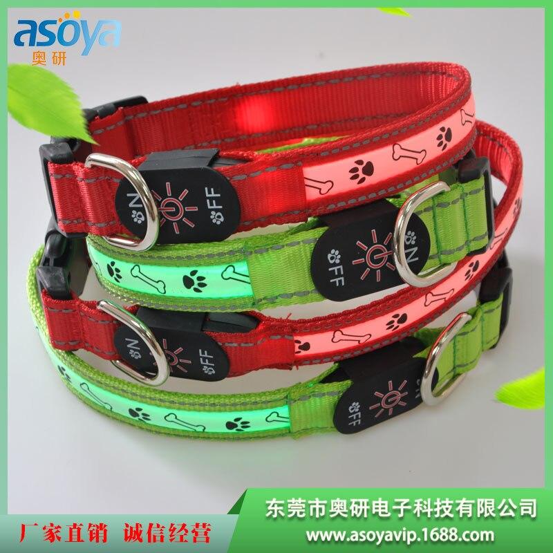 LED Luminous Collar USB Charging Luminous Collar Bandana Pet Night Light Neck Ring In Small Dogs Neck Ring