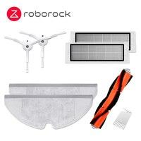 Original Roborock S5Max S6 MaxV Robot repuestos de aspiradora paquete Kits RP ropa seco mojado limpiando * 2 filtro * 1 Cepillo Lateral * 2