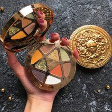 Guicami genuine 9-color eyeshadow paleta tikka deusa 9-sombra de cor à prova dwaterproof água, non-tipping, natural de longa duração