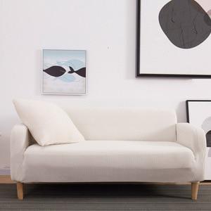 Image 2 - Winter Warm Fleece Cover Sofa Gebruik Voor Woonkamer Cubre Sofa Couch Cover All inclusive Stretch Elastische Slip Cover 1/2/3/4 zits