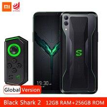 "Küresel sürüm Xiaomi siyah köpekbalığı 2 12GB 256GB oyun Smartphone Snapdragon 855 48MP arka kamera 4000mAh 6.39 ""Ekran"