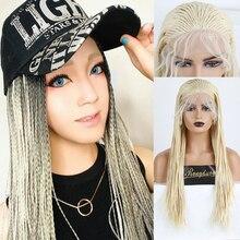 RONGDUOYI светлые волокна волос синтетический парик фронта шнурка Длинные прямые плетеные парики шнурка для женщин с волосами младенца ежедневного использования парик
