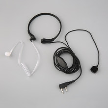 Baru 2 Wire Air Tabung Laring Shock Earphone Headset Earpiece untuk Kenwood Radio K Type Plug(China)