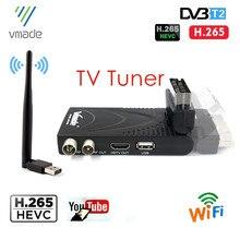 Vmade DVB T2 Mini Digital TV Box Empfänger Mit SCART H.265/HEVC MPEG4 HD Für Europa Spanien Russland WIFI youtube TV Tuner
