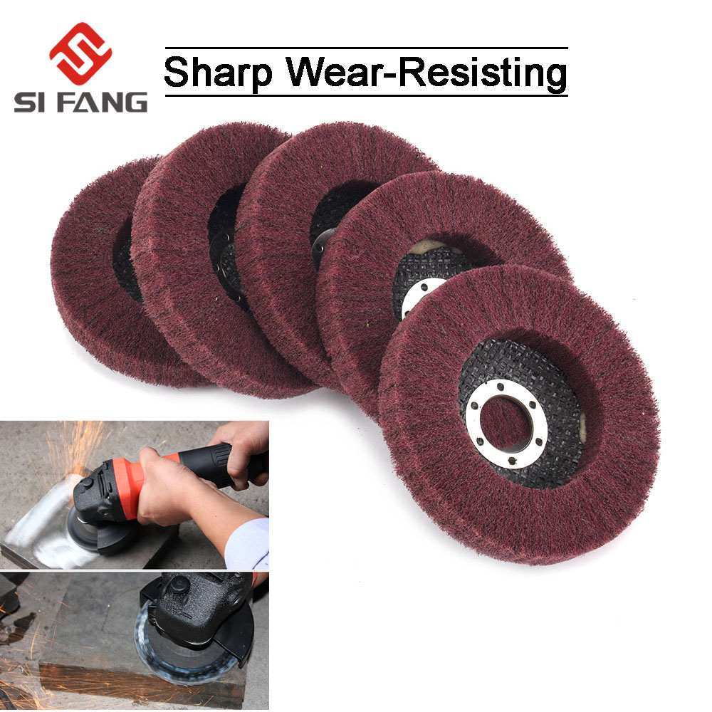 2Inch Metal Shaft Grinding Non-woven Flap Wheel For Metal Polishing 320Grit 5Pcs