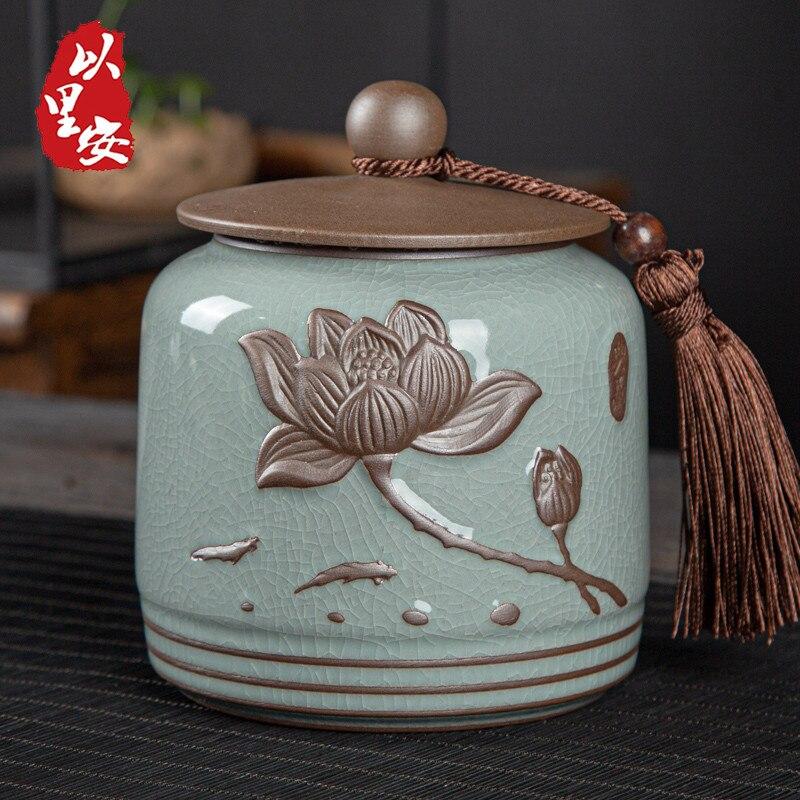 Coffee Sugar Jars Tea Packaging Storage Set Ceramic Storage Jar Vintage Jars Tea Container Organizer Boite A The Kitchen Storage