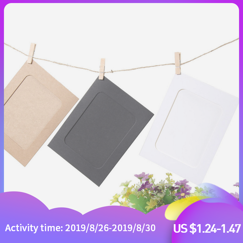 Rope Album Frame Clips-Set Photo-Flim Wall-Picture 3inch-Paper Home-Decoration DIY 10pcs