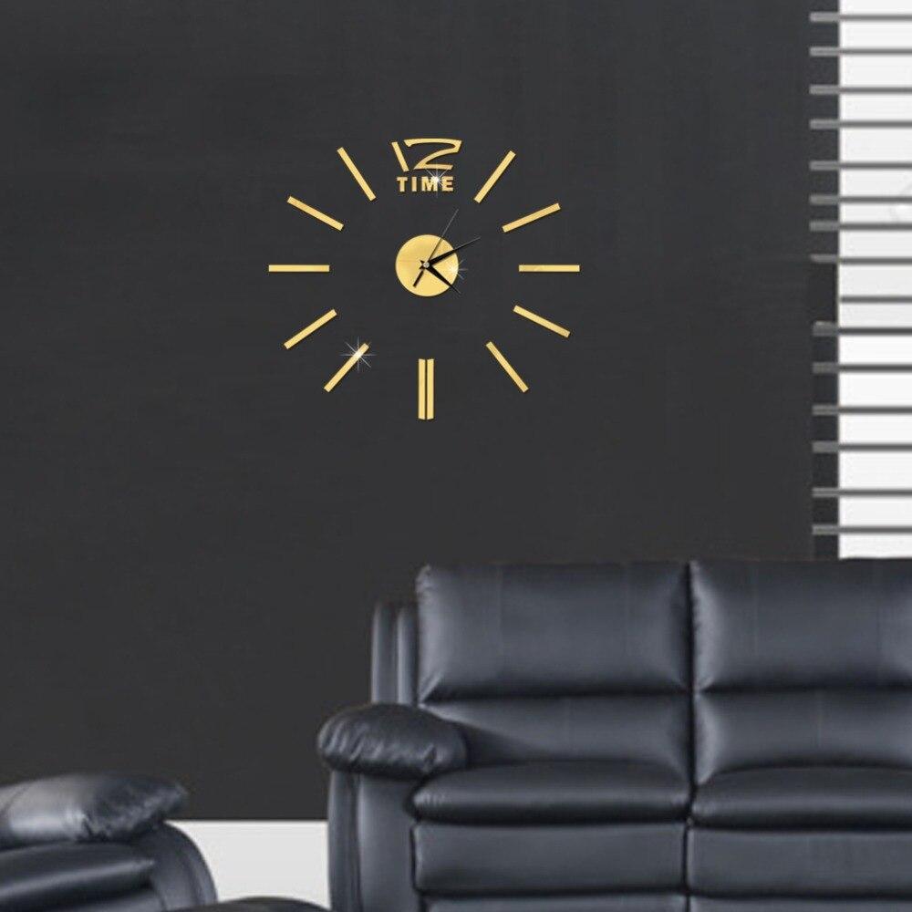3D Wall Clock Mirror Wall Stickers Fashion Living Room Quartz Watch DIY Home Decoration Clocks Sticker reloj de pared 19