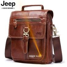 famous brand Genuine Leather Shoulder Bag Men Messenger