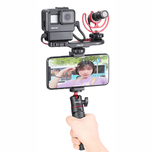 Image 4 - Ulanzi PT 8 PT 9 Gopro Smartphone Vlog צלחת עבור Sony A6400 A6300 קר נעל הר להאריך מיקרופון LED אור מתאם