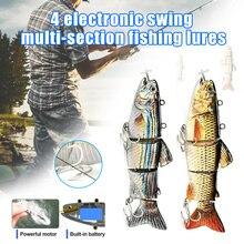Электрическая наживка воблер 4-Segement Swimbait USB перезаряжаемая искусственная приманка ASD88