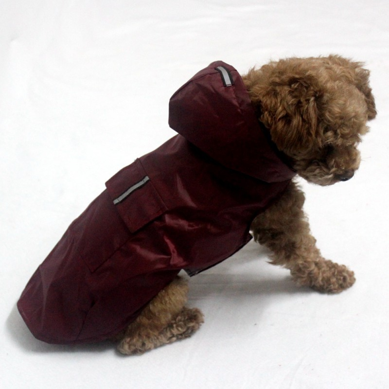 Reflective Pet Dog Raincoat Waterproof Rain Jacket With Hood Puppy Clothes Safety Rainwear Rain Coat For All Size