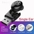 Миниатюрные наушники с одним ухом моно наушники Bluetooth наушники-вкладыши громкой связи зарядка через USB водонепроницаемые беспроводные науш...