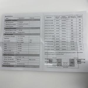 Image 4 - Fiber Optical Transmitter FTTH CATV+STA IF Micro Optical Transmitter 10mW 47 2150MHz 1310nm 1550nm single mode 12V DC Micro
