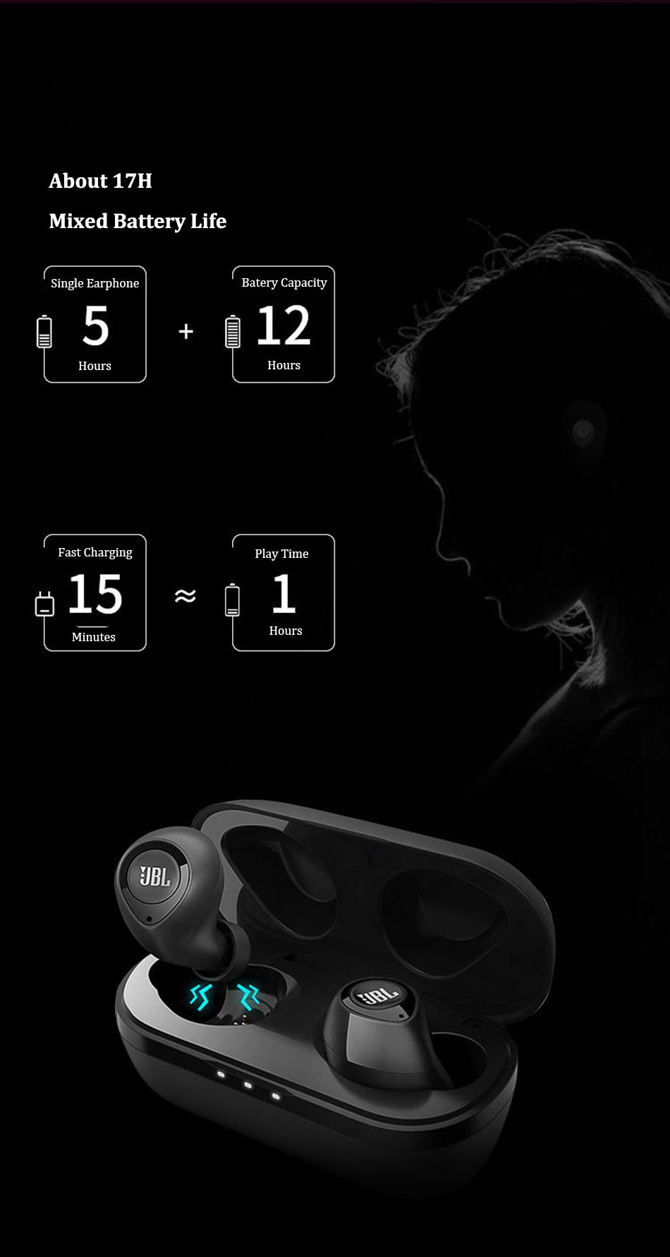 JBL C100TWS True wireless headphones 8