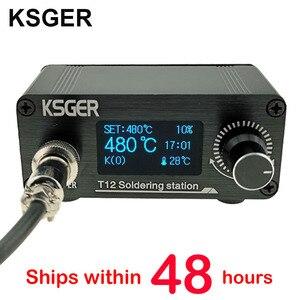 Image 1 - KSGER Mini estación de soldadura T12 DIY STM32 OLED V2.01, controlador con mango de 907, Kits de carcasa de aleación de aluminio, herramientas de soldadura T12, puntas de hierro