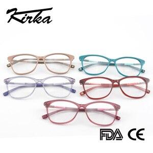 Image 5 - Kirka óculos frame feminino vintage senhora óculos quadro lente clara óculos de leitura óculos ópticos armação de prescrição feminino