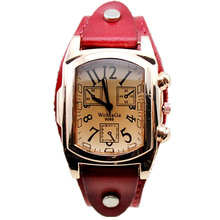 Womage Fashion Vintage Women Watches Ladies Rose Gold Square Head Quartz Womens wristwatch relojes mujer 2019