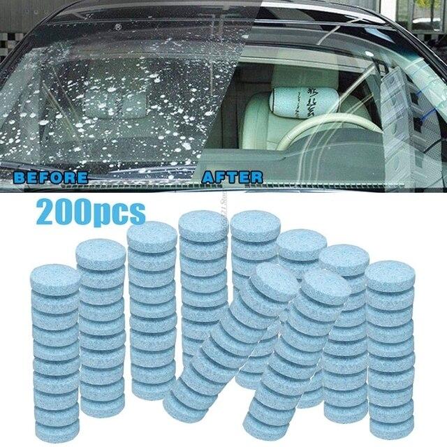 Lot de 10/50/100/200 pièces de verre solide, accessoires de nettoyage ménager et de voiture pour lave glace, pilules liquides Anti pluie pour vitres E90 Peugeot 3008