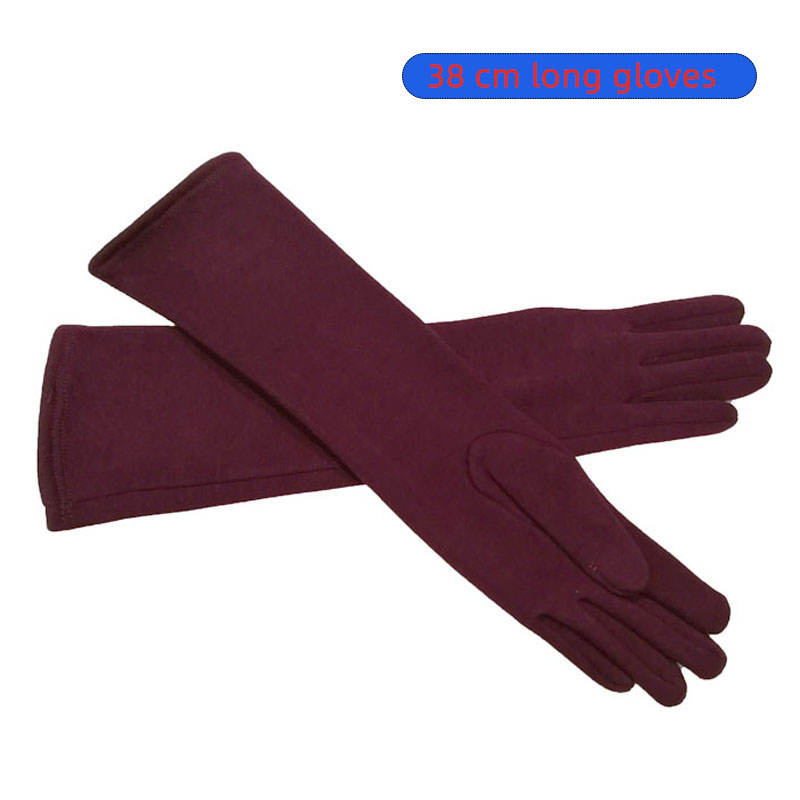High Quality Color Long Adult Women Fashion Cotton New Style Gloves Autumn And Winter Warm