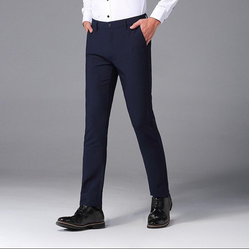 Business Suit Pants Men's New Style Slim Fit Long Pants Elasticity Gentleman Business Men's Pants Youth Men Casual Business Pant