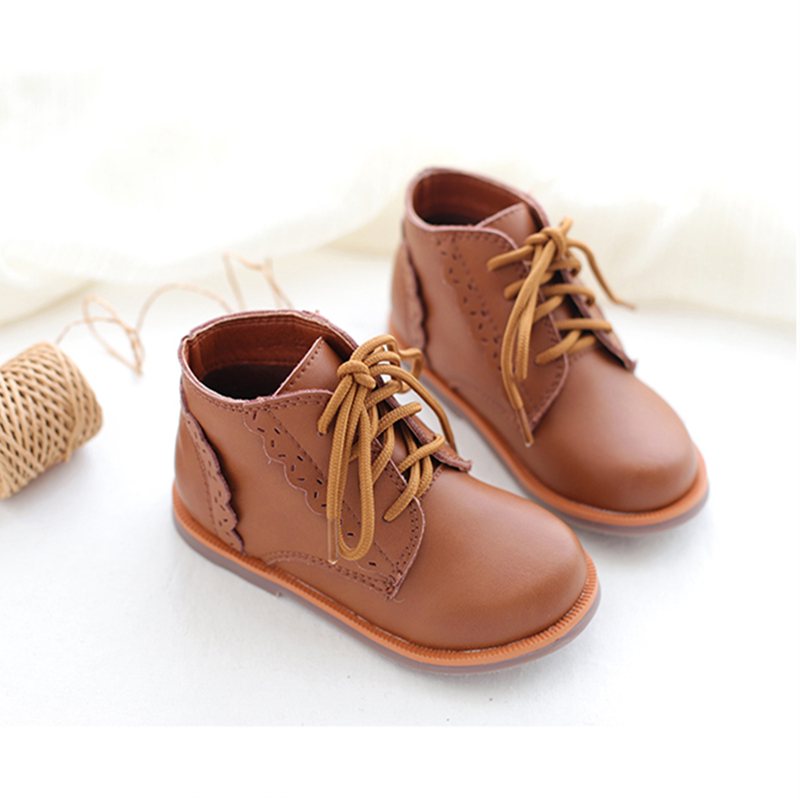 Genuine Leather Children Boots Winter Kids Snow Boots Waterproof Fashion Girls Shoes