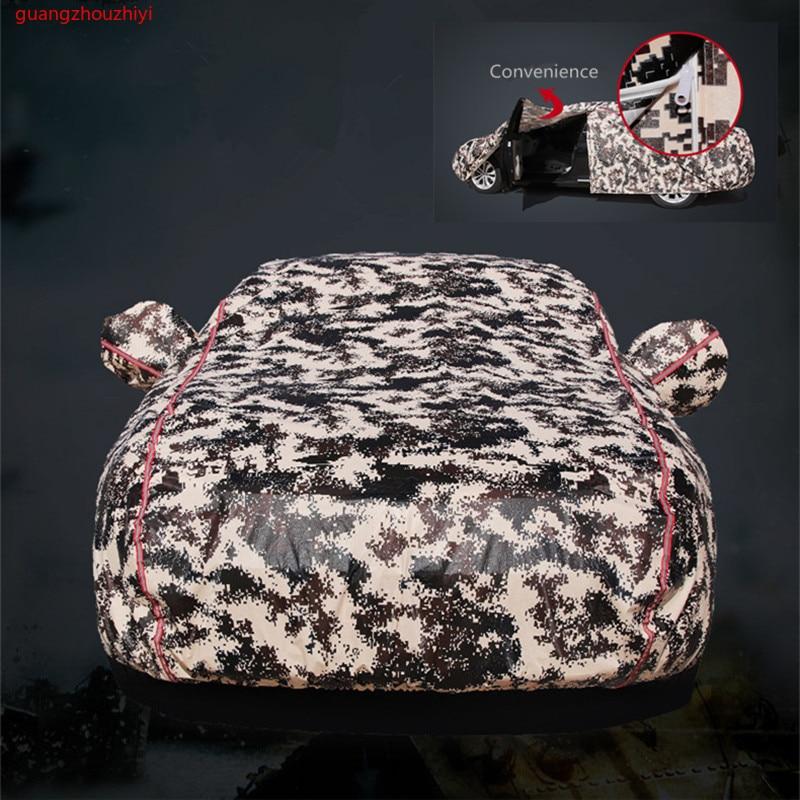 Cubierta de invierno para coche cubierta impermeable espesamiento de la nieve cubierta universal de cristal para coche al aire libre anti lluvia funda para el coche