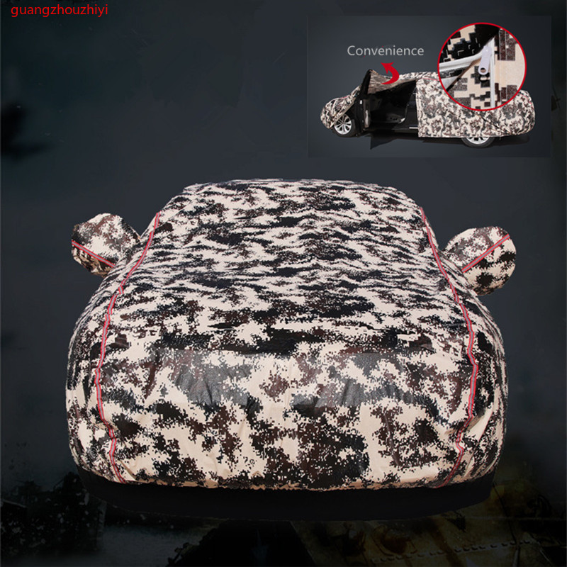 Winter car cover waterproof thickening snow cover universal car glass cover outdoor anti rain sun shade case for car